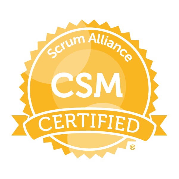 Scrum Alliance CSM seal