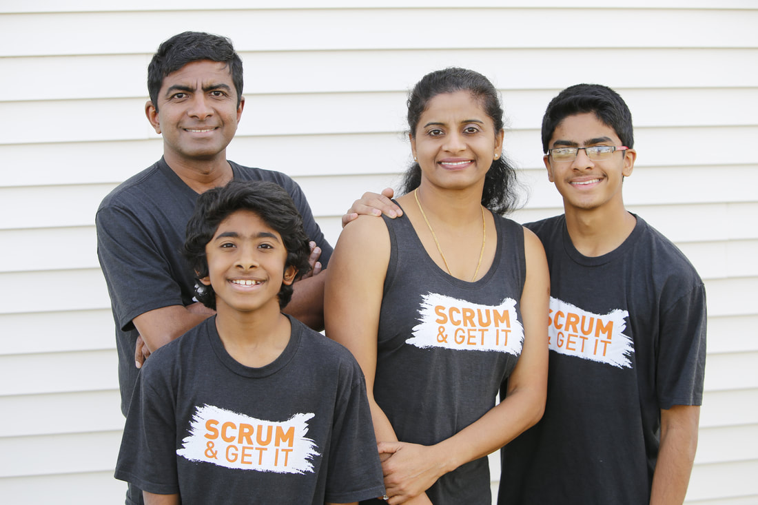 Manoj Vadakkan and family